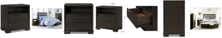 Furniture Morgan USB Nightstand, Created for Macy's
