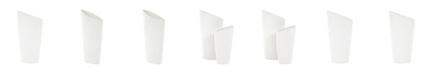Howard Elliott Asymmetrical White Vase with Branch Texture- Large