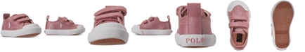 Polo Ralph Lauren Toddler Girls Kingsley EZ Stay-Put Closure Casual Sneakers from Finish Line
