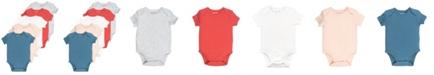 Mac & Moon Baby Girl 5-Pack Short Sleeve Bodysuits
