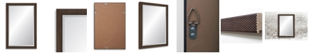 Reveal Frame & Decor Reveal Mahogany Basketweave Beveled Wall Mirror