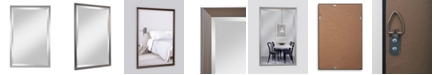 Reveal Frame & Decor Alpine Beacon Hill Pewter Beveled Wall Mirror
