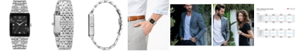 Bulova Men's Futuro Diamond Accent Stainless Steel Bracelet Watch 30x45mm