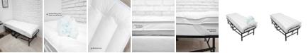 SensorPEDIC 2-Inch MemoryLOFT Fiber and Memory Foam Cluster Cot Bed Topper