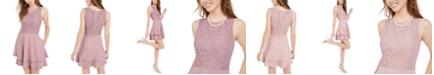 Speechless Juniors' Lace-Top Dress