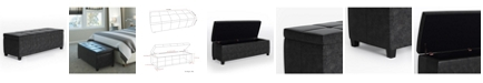Simpli Home Castleford Storage Ottoman