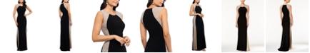 XSCAPE Petite Beaded Illusion Gown