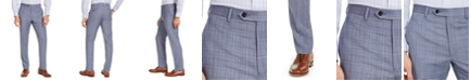 Lauren Ralph Lauren Men's Classic-Fit UltraFlex Stretch Light Blue Plaid Suit Pants