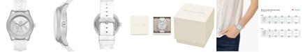 Michael Kors Women's Maddye White Logo Silicone Strap Watch 43mm