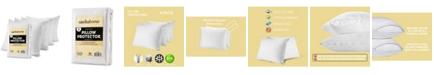CIRCLESHOME Mastertex Pillow Protectors, Standard - 4 Pieces