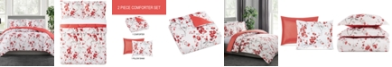 Pem America Cherry Blossom 2-Pc. Reversible Twin Comforter Set, Created for Macy's