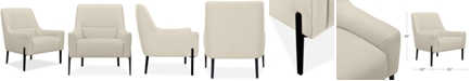 """Furniture Aubreeze 31"""" Fabric Accent Chair, Created for Macy's"""