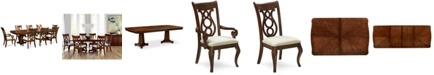 Furniture Closeout! Bordeaux Double Pedestal 9-Pc. Dining Set, Created for Macy's,  (Dining Table, 6 Side Chairs & 2 Arm Chairs)