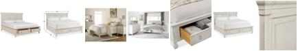 Furniture Sag Harbor White Storage Queen Platform Bed