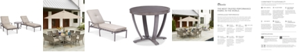 Furniture Wayland Outdoor Aluminum 3-Pc. Chaise Set (2 Chaise Lounges & 1 End Table) with Sunbrella® Cushions, Created for Macy's
