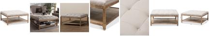 Furniture Carlotta Square Ottoman, Quick Ship