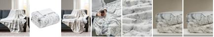 "Madison Park Sachi Oversized 60"" x 70"" Printed Faux-Fur Throw"