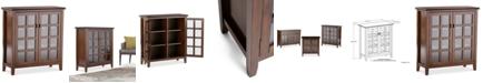 Simpli Home  Bellevue Medium Storage Cabinet, Quick Ship