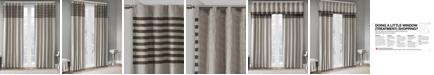 "Madison Park Dune Microsuede Stripe Pair of 42"" x 63"" Window Panels"
