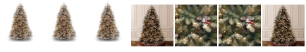National Tree Company National Tree 7 .5' Dunhill®  Fir Hinged Tree with Snow, Red Berries, Cones & 750 Clear Lights