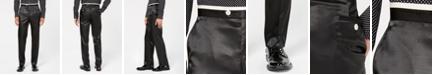 Sean John Men's Classic-Fit Black Solid Tuxedo Pants