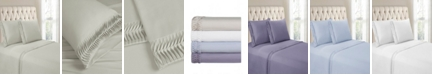 Cathay Home Inc. Hudson & Main Arrow Pleated Hem 4 Pieces King Sheet Set