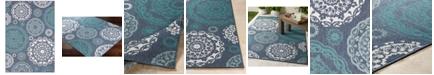 Surya Alfresco ALF-9666 Charcoal 6' x 9' Area Rug, Indoor/Outdoor
