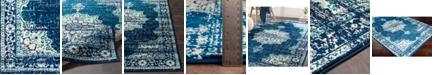 """Abbie & Allie Rugs Paramount PAR-1100 Dark Blue 18"""" Area Rug Swatch"""