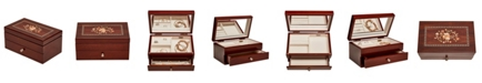 Mele & Co Brynn Wooden Jewelry Box with Florentine Marquetry Motif