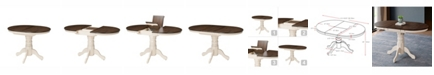 "Corliving Distribution CorLiving Extendable Oval Pedestal Dining Table with 12"" Butterfly Leaf"