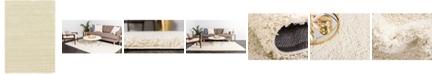 Bridgeport Home Exact Shag Exs1 Pure Ivory 6' x 9' Area Rug