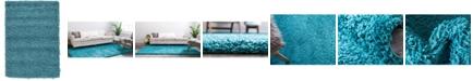 "Bridgeport Home Exact Shag Exs1 Deep Aqua Blue 2' 2"" x 3' Area Rug"