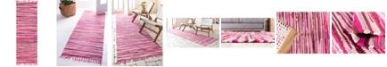 "Bridgeport Home Jari Striped Jar1 Pink 2' 7"" x 6' 7"" Runner Area Rug"