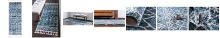 "Bridgeport Home Levia Lev1 Dark Blue 2' 4"" x 6' Runner Area Rug"