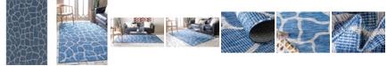 Bridgeport Home Pashio Pas7 Blue 5' x 8' Area Rug