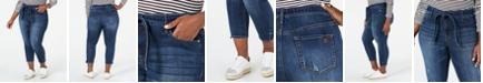 Seven7 Jeans Trendy Plus Size Tie-Waist Cropped Jeans