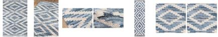 """Novogratz Collection Novogratz California Cal-2 Blue 2'3"""" x 8' Runner Area Rug"""