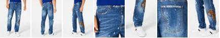 Sean John Men's Slim-Fit Distressed Panther Jeans