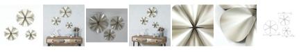 Luxen Home 3 piece Silver Flower Wall Decor