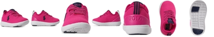 Polo Ralph Lauren Toddler Girls Kamran Stay-Put Closure Athletic Sneakers from Finish Line