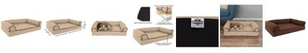 "PetMaker Orthopedic Pet Sofa Bed with Memory Foam and Foam Stuffed Bolsters 30"" x 20.5"" x 7.5"""