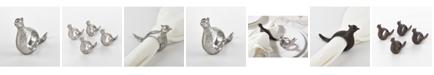 Saro Lifestyle Quail Napkin Ring Pheasant Design Napkin Ring, Set of 4