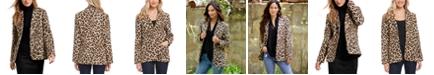Karen Kane Leopard-Print Jacquard Blazer