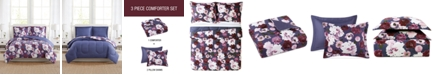 Pem America Bloomy Reversible 3-Pc. Comforter Mini Sets, Created for Macy's