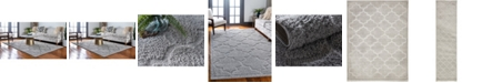 Bridgeport Home Filigree Shag Fil2 Gray Area Rug Collection
