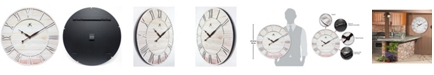Infinity Instruments Round Wooden Wall Clock