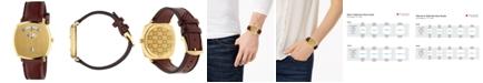 Gucci Grip Bordeaux Leather Strap Watch 38mm