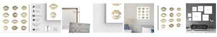 """Oliver Gal 24K Kisses Canvas Art, 16"""" x 16"""""""