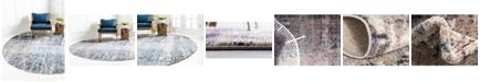 Jill Zarin Gramercy Downtown Jzd001 Multi 8' x 8' Round Rug