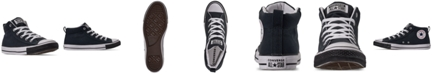 Converse Men's Chuck Taylor Street Mid Black Toe Casual Sneakers from Finish Line